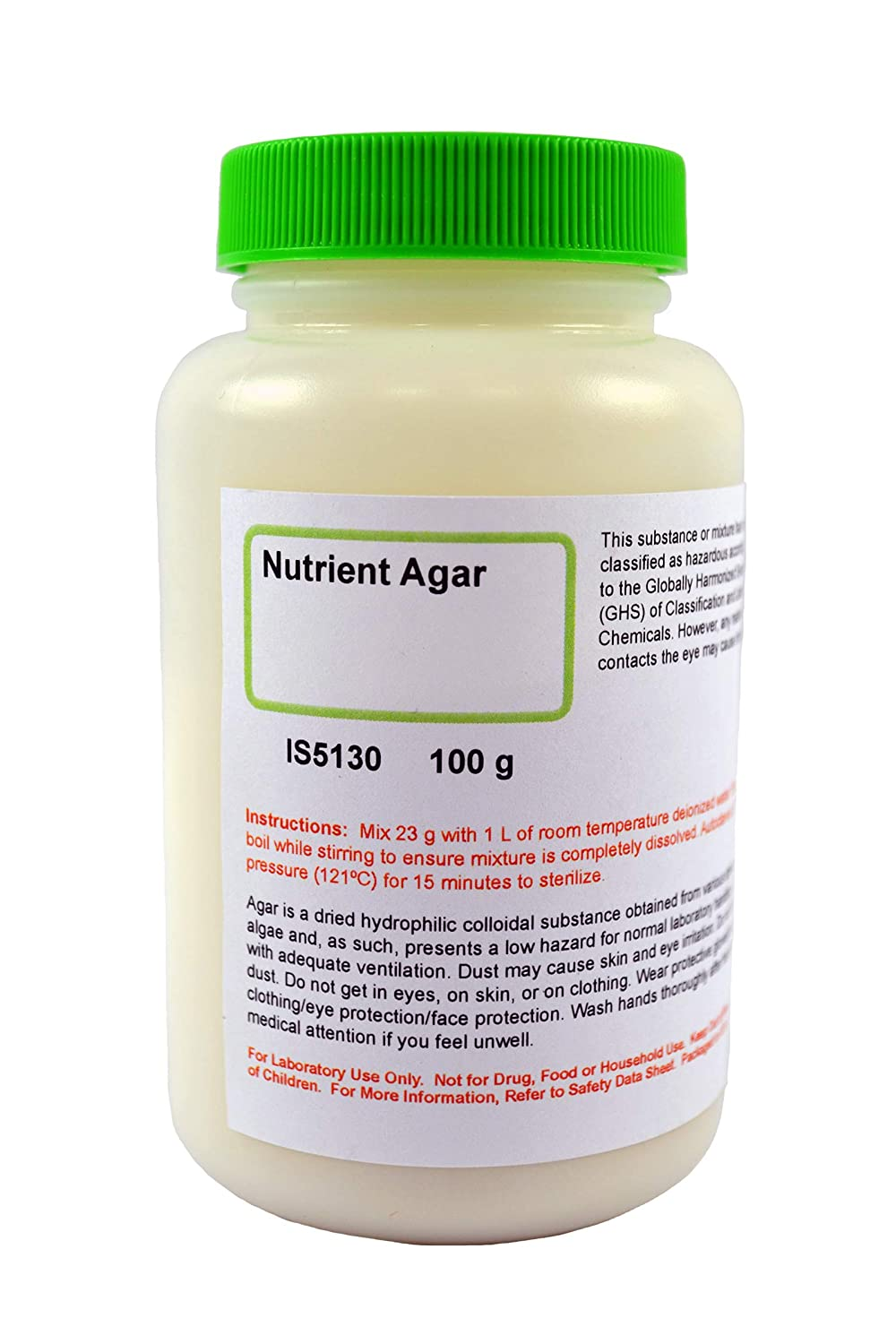 Nutrient Agar, 100g - General Purpose Growth Medium for Petri Dishes or Test Tube Slants - Makes 4 Liters - Perfect for Laboratory, Classroom & at Home Science Experiments - Innovating Science
