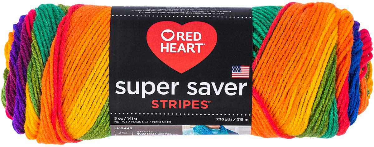 Red Heart 98941 Super Saver Yarn 24/Pk-Favorite Stripe, Pack by Red Heart (Image #2)