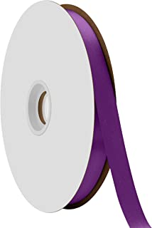 """product image for Offray Berwick 5/8"""" Single Face Satin Ribbon, Regal Purple, 100 Yds"""