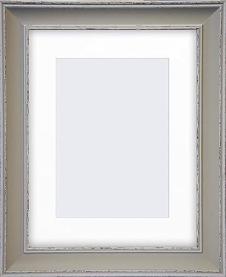 Photoframesandart - Madison Wide Shabby Chic Photo Frame With Glass ...