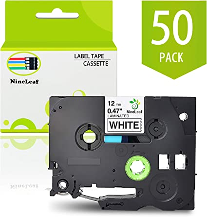 """50PK Compatible with Brother TZe231 TZ231 Black On White Label Tape PT-1000 1//2/"""""""