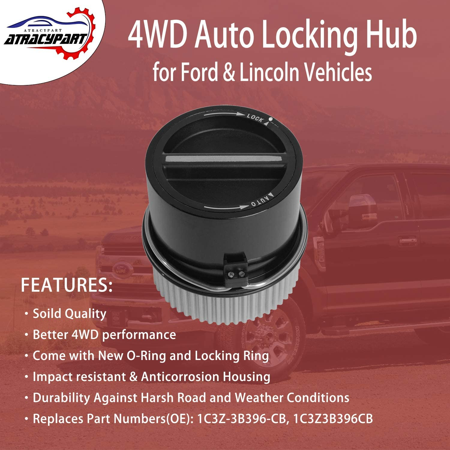 #1C3Z3B396CB 4WD Auto Locking Hub Link Front Left or Right for 1999-2004 Ford F250 F350 F450 F550 Super Duty 2001-2002 Expedition /& Lincoln Navigator 2000-2005 Excursion 1C3Z-3B396-CB