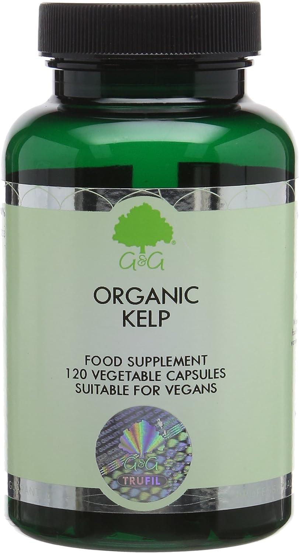 G&G Vitamins Organic Kelp Ascophyllum Iodine Capsules 500mg