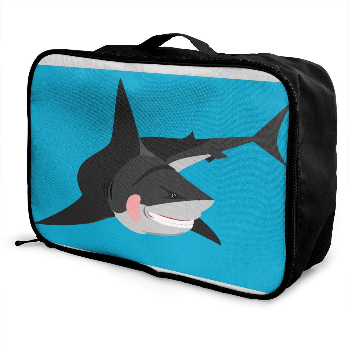 Collection Of Free Shark Customize Casual Portable Travel Bag Suitcase Storage Bag Luggage Packing Tote Bag Trolley Bag