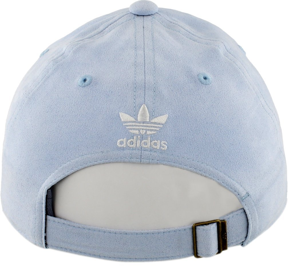adidas Women's Originals Relaxed Plus Adjustable Strapback Cap, Aero Blue Suede/White, One Size by adidas (Image #6)