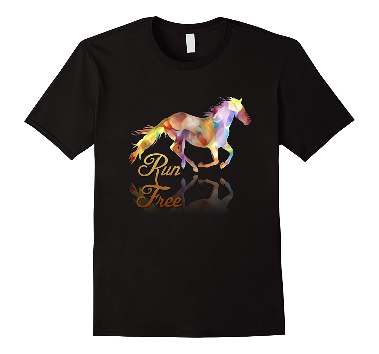 Run Free Colorful Horse Art-Vaci