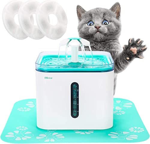 Emiral Cat Water Fountain, Smart Automatic Pet Water Dispenser, 85 oz Cat Drinking Water Bowl with 3 Replacement Filters – Perfect for Dogs, Cat, and More Small Animals
