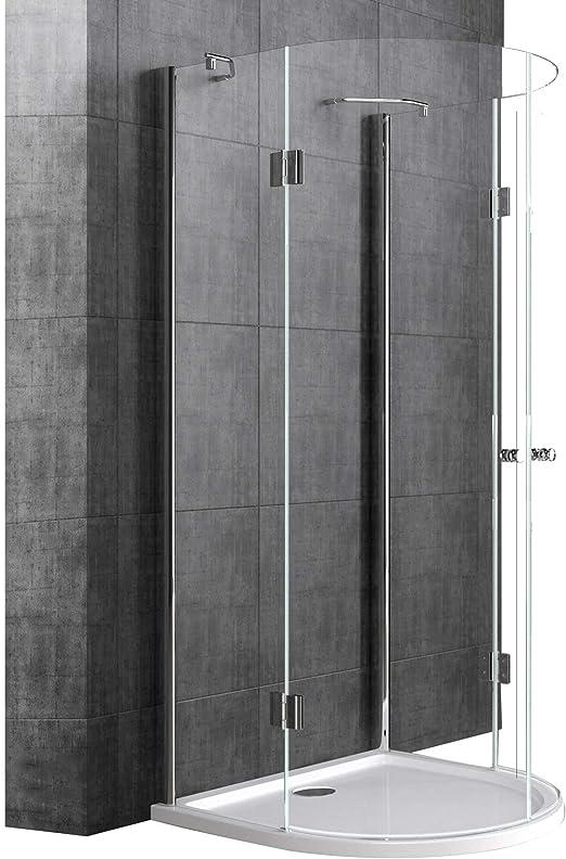 doporro Cabina de ducha semicircular diseño Rav03K 100x100x190cm ...