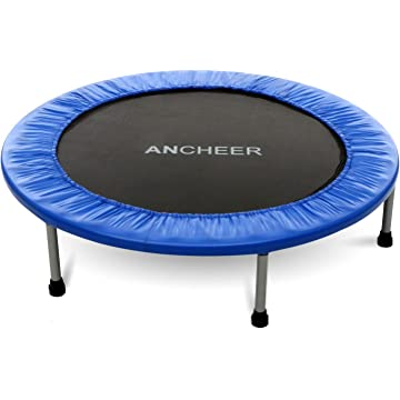 buy ANCHEER Max Load 220lbs Rebounder Trampoline with Safety Pad for Indoor Garden Workout Cardio Training