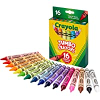 16-Count Crayola Jumbo Crayons, Assorted Colors, Great Toddler Crayons