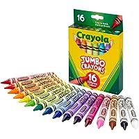 Crayola Jumbo Crayons 16 count Crayons, Multicolor, Jumbo