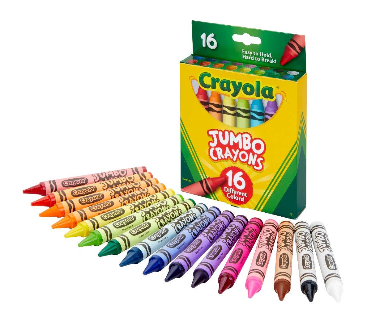 Crayola Jumbo Crayons 16Count, Multicolor by Crayola (Image #1)