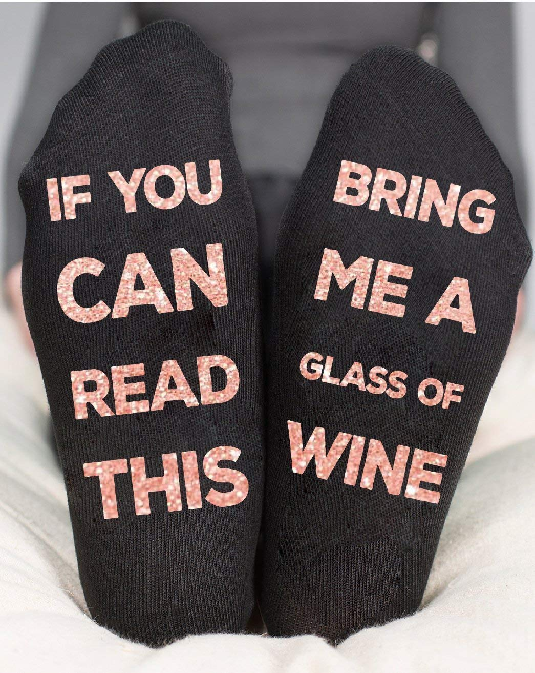 If You Can Read This Bring Me Wine Socks Party Gift For Her