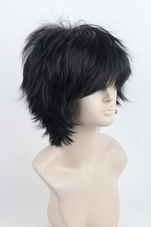 Unisex Layered Shaggy Cosplay Short Wig Hair for Women Men (1#)