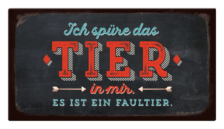 Es ist EIN Faultier Pappe Grafik-Werkstatt VintageArt Ich sp/üre das Tier in Mir Uni 22 x 12 cm Cardboard