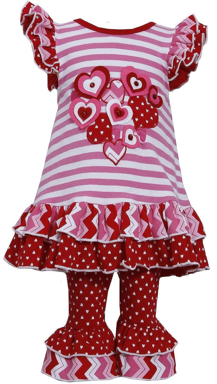 amazoncom bonnie jean girls valentine heart dress legging outfit clothing