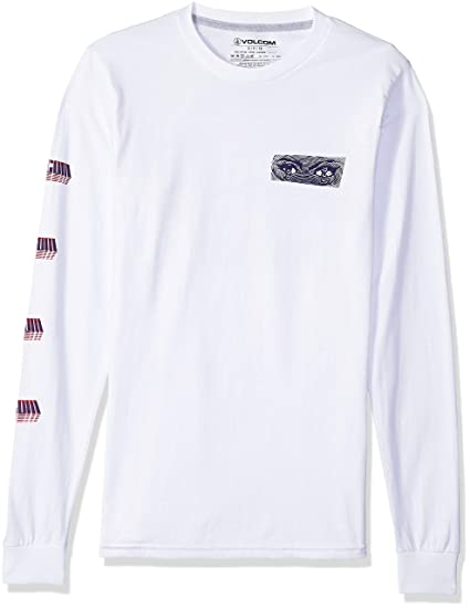1c1a1a590 Volcom Men s Stone Void Basic Fit Long Sleeve Tee T-Shirt  Amazon.co.uk   Clothing