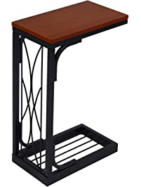 side tables for living rooms. SONGMICS Snack Table Heavy Duty Sofa Side for Living Room with Brown  Wooden Top Tables Amazon com