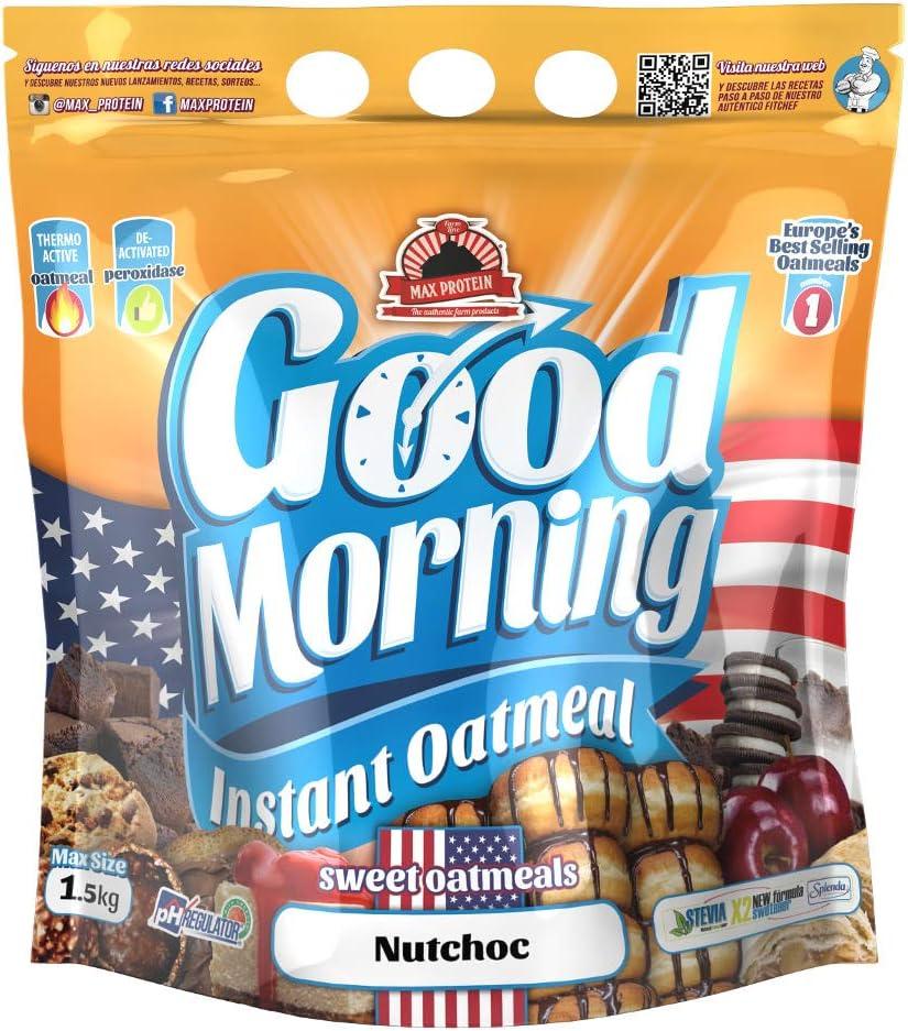Max Protein - Good Morning Instant Oatmeal, Harina de avena, 1,5kg ...