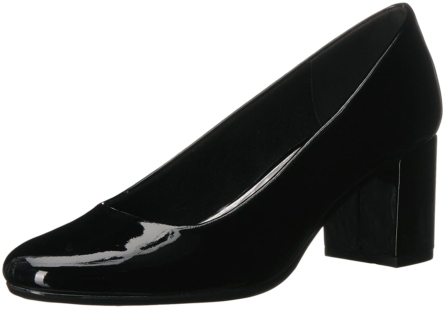 Easy Street Women's Proper Pump B077ZNDMZZ 11 2W US|Black Patent