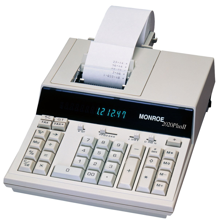 Monroe mr2020plusii/de impresión de 12 dígitos Display calculadora ...