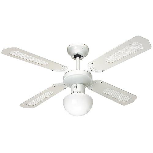 Farelek Bali Ventilateur de plafond 107 cm Vert Clair avec blanc