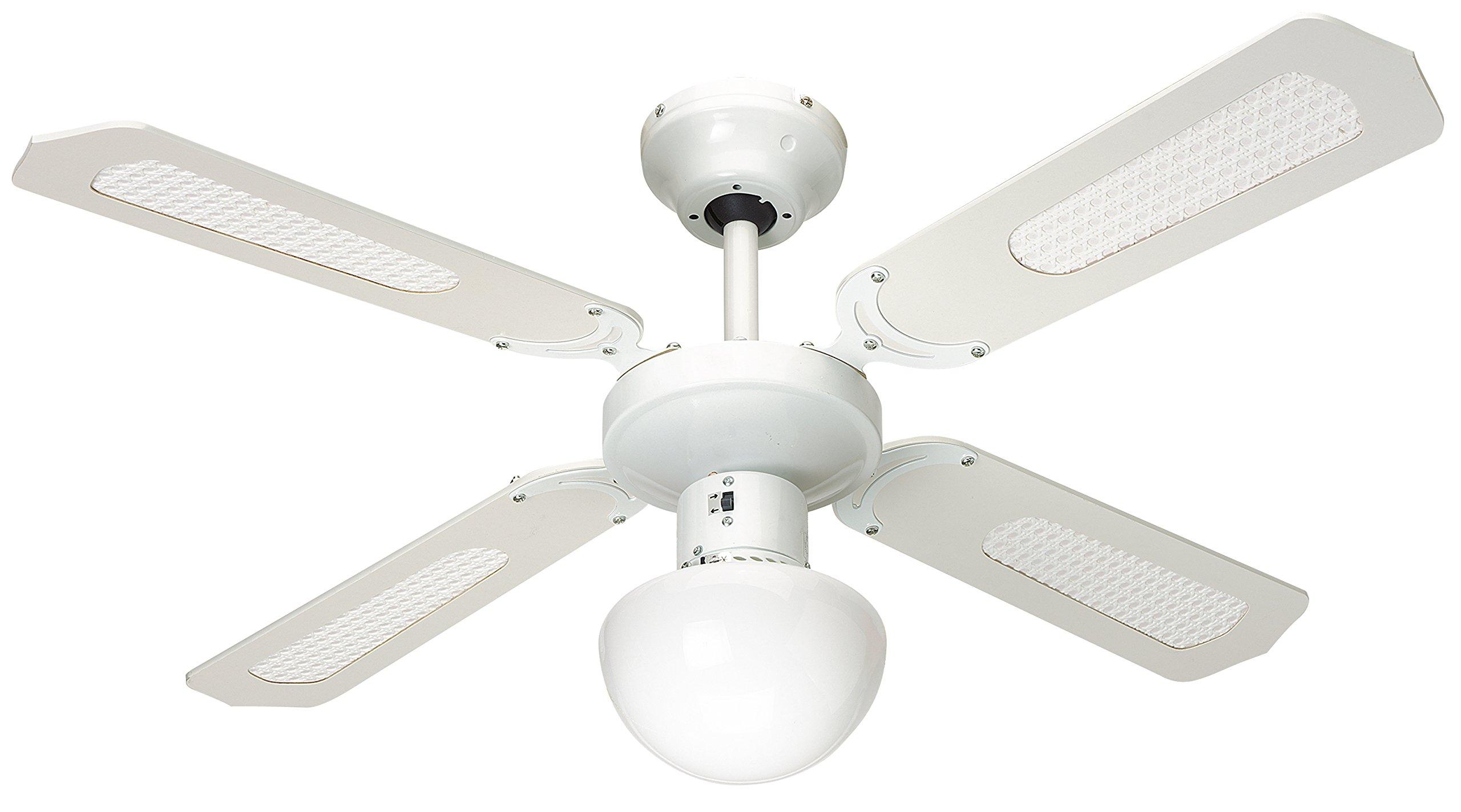 Farelek Bali Ventilateur de plafond 107 cm Vert Clair avec blanc product image