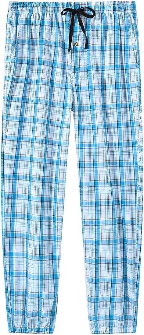 MoFiz Mens Pajama Bottoms Cotton Plaid Lounge Pants Long Sleepwear