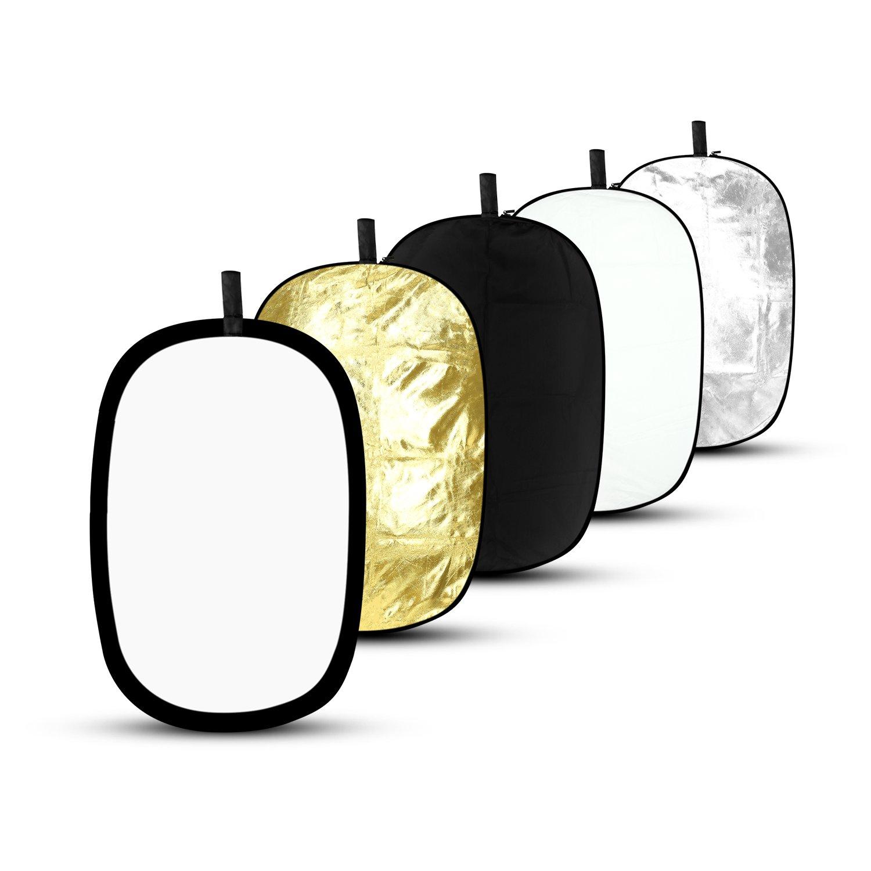 Reflector Fotografia 5 en 1, ESDDI 60 x 90cm Reflector de luz Fondo para Studio fotografia, Color Negro, Oro, Plata, Transparente, Blanco: Amazon.es: ...