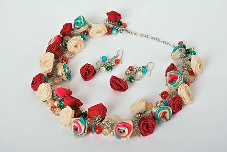 d3da0946fc71 Aretes hechos a mano collar artesanal bisuteria fina para mujeres estilosas