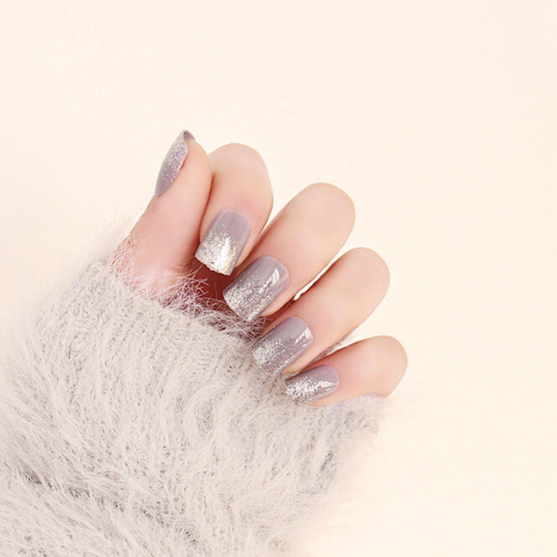 Amazon.com : Yean Bridal False Nails Bright Mirror Plated Vintage ...