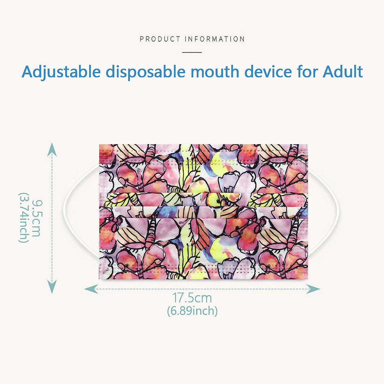 FRKZ 10//20//30//40//50//100Pcs Papillon Imprim/é de Adultes jetable 3 Couches