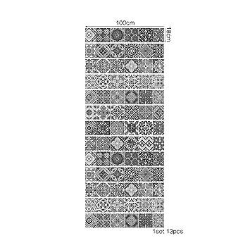 QQA DIY Treppen Aufkleber Wasserdicht Selbst Klebstoff Entfernbar Machen  Alt Jahrgang Fliesen Mauer Aufkleber Kunst Dekoration