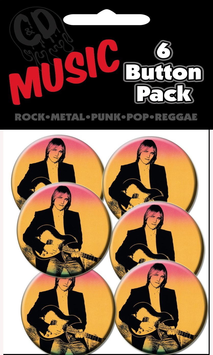 C D Visionary Tom Petty Full Moon Prepack Buttons 6 Piece 1.25