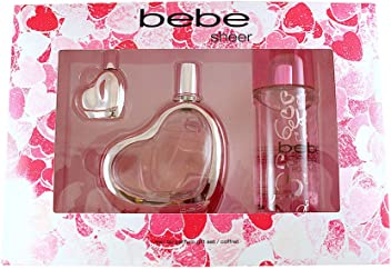 Bebe Sheer 3 Piece Eau de Parfum Spray Gift Set for Women