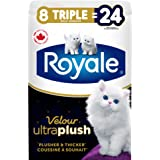 Royale Velour Ultra Plush, Plusher and Thicker Toilet Paper, 198 bath tissues Per Roll