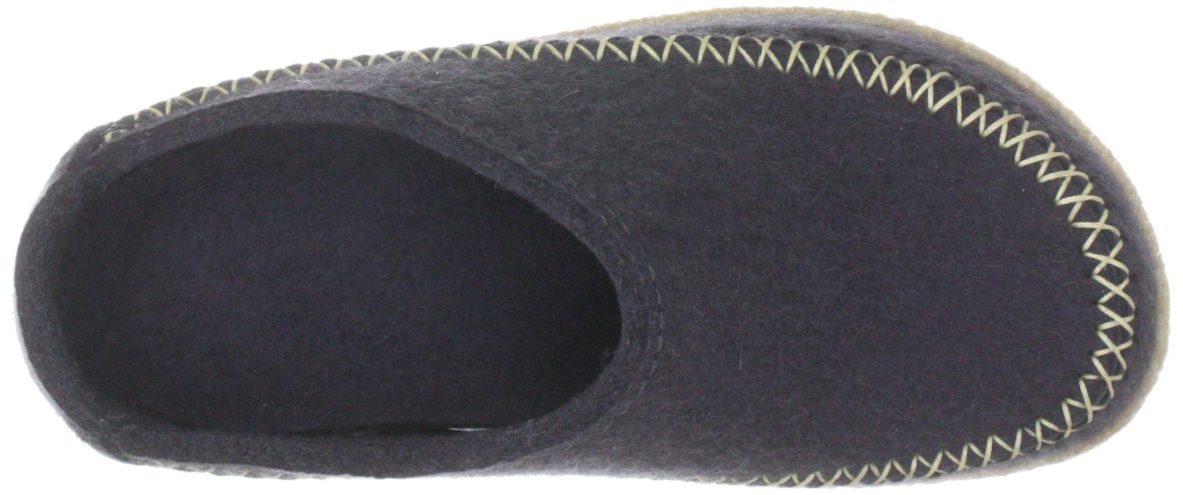 Haflinger 718001 Slippers, Filztofel Blizzard Credo, Asphalt, Gr 41 by Haflinger (Image #7)