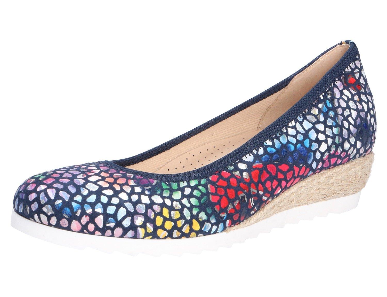 Gabor Epworth Womens Modern Ballerina Shoes B078N99B97 5 F (W) UK/ 7 C/D(W) US|River Flower Stamp