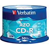 Verbatim 700MB 52x DataLifePlus Branded Recordable Disc CD-R, 50-Disc Spindle 94523
