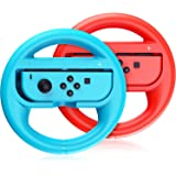 Switch Steering Wheel Compatible with Mario Kart 8 Deluxe, GH Racing Wheel Accessories Compatible with Nintendo Switch/Switch