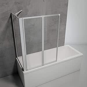 Schulte ducha pared Mini con y sin pared laterales Incluye pegamento de montaje, distintos tipos de cristal, perfil de aluminio o color natural alpinweiß, mampara para bañera, D133270 01 50: Amazon.es: Bricolaje