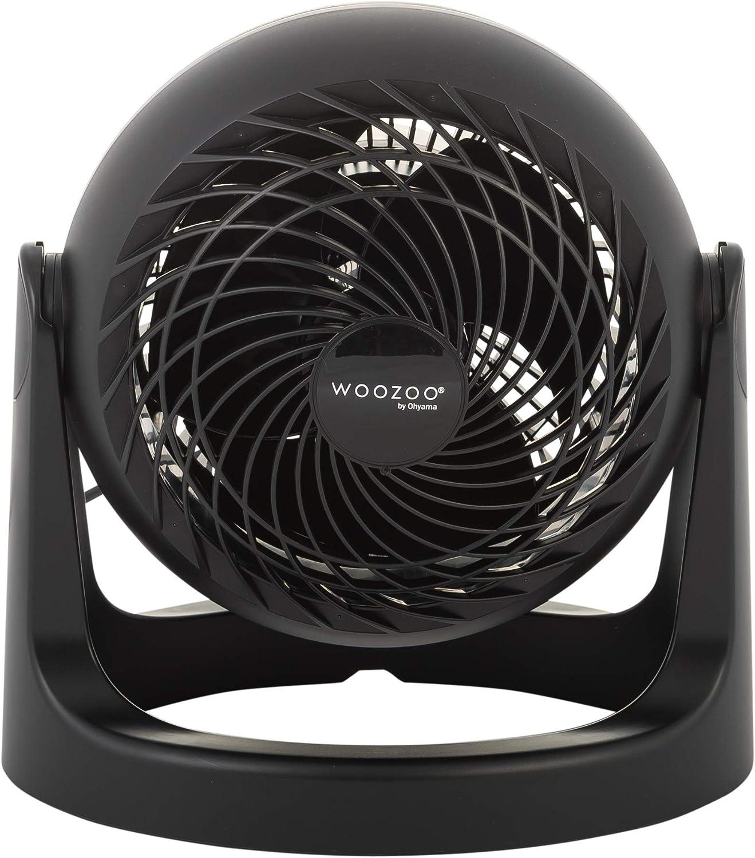 Iris Ohyama - Ventilador de mesa potente y silencioso, ángulo ajustable de 360 ° - Woozoo PCF-HE15 - Negro, 29,2 x 25,9 x 25,9 cm: Amazon.es: Oficina y papelería