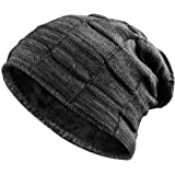 Airsspu Slouchy Cable Knit Cuff Beanie - Chunky, Oversized Slouch Beanie Hats for Men & Women - Stay Warm & Stylish