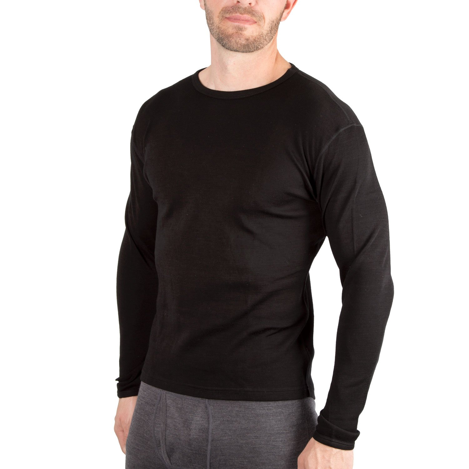 MERIWOOL Men's Merino Wool Base layer Crew