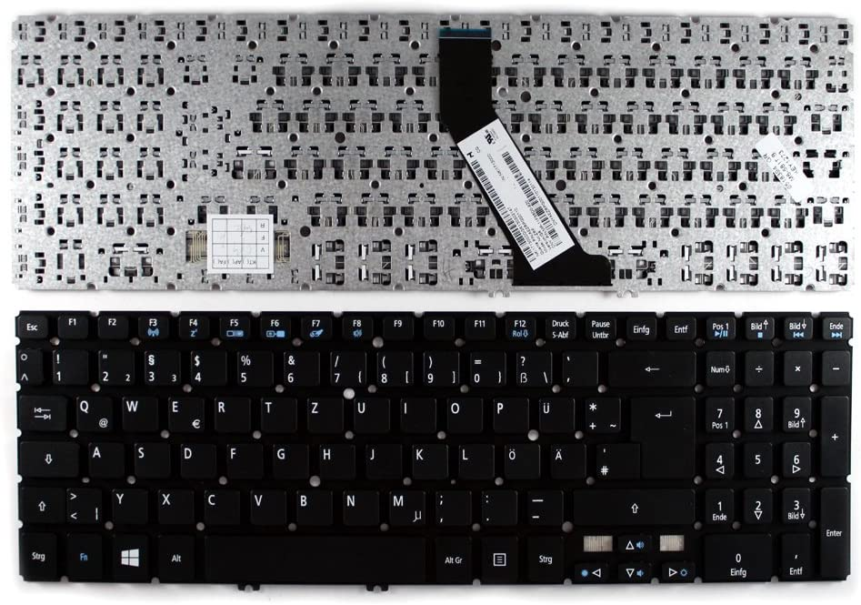 Keyboards4Laptops German Layout Black Windows 8 Laptop Keyboard Compatible with Acer Aspire V5-571-53318G75Makk, Acer Aspire V5-571-6605, Acer Aspire V5-571-6689, Acer MP-11F56D0-920