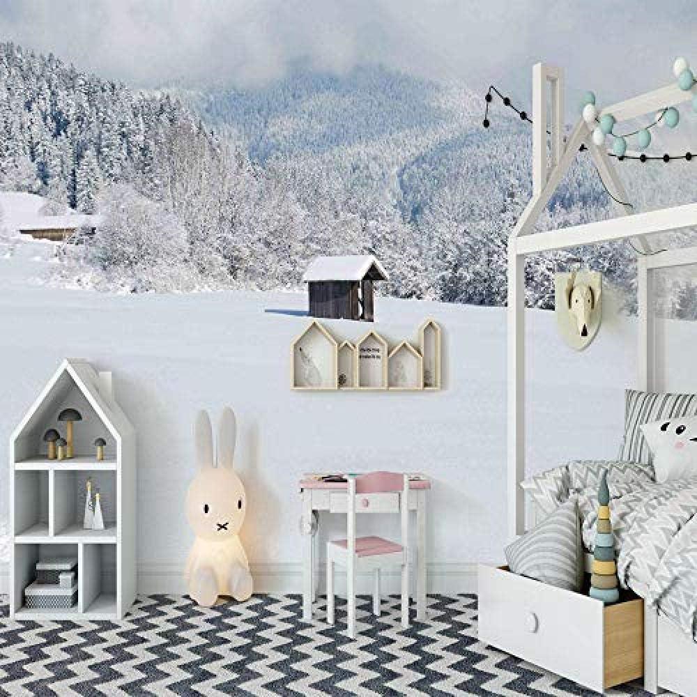 Amazon Djskhf 壁画雪の家カスタム3d Hd壁紙家の装飾塗料ノスタルジックなパネル写真家の芸術のリビングルームの寝室のキッチン 280x0cm 壁紙