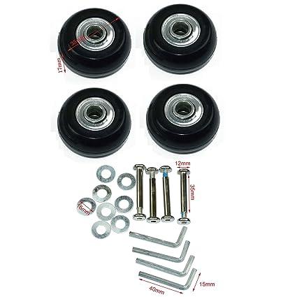 Lovinstar 4PCS/Set - Juego de Ruedas de Repuesto para Maleta de Equipaje con rodamientos