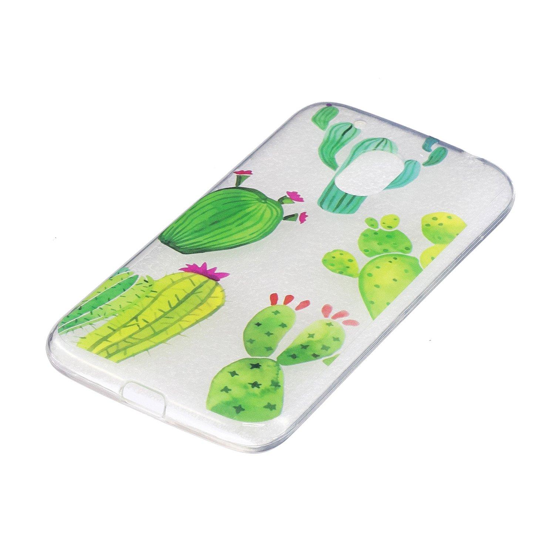 Kaktus Moto G4 H/ülle Motorola Moto G4 H/ülle 5,5 Zoll Handy H/ülle Schutzh/ülle Handytasche Cover Case Weiche TPU Silikon Schlank Flexibel Handy Tasche G4 Plus H/ülle Anlike Motorola Moto G4 //G4 Plus