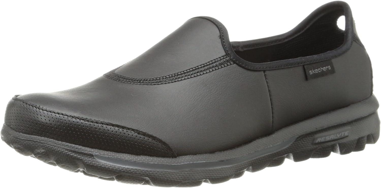 skechers go walk leather slip on