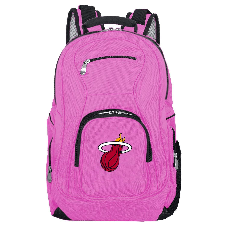 Denco NBA Voyager ラップトップバックパック 19インチ ピンク Miami Heat Miami Heat B07D12FNT8